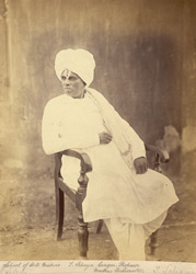 Portrait of T. Schaya Jangar, Professor at Madras University.